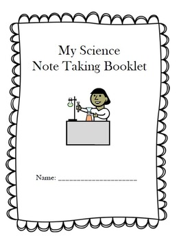 Science Lab Reports Note Taking Booklet- Lucy Calkins based