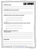 Science Lab Reports for Kids (Grades 4+)
