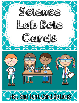 Science Lab Role Cards (Flat or Tent) for Collaborative Learning
