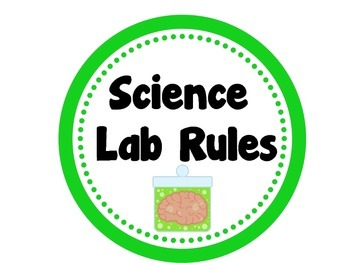 Science Lab Rules Poster