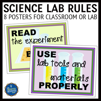 Science Lab Rules Posters