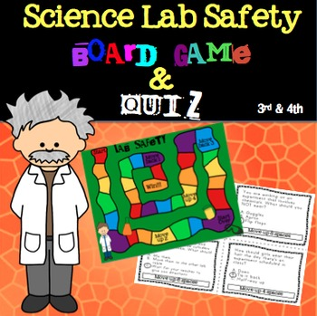 Science Lab Safety Board Game 3rd and 4th Grades