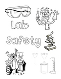 Science Lab Safety Coloring Page
