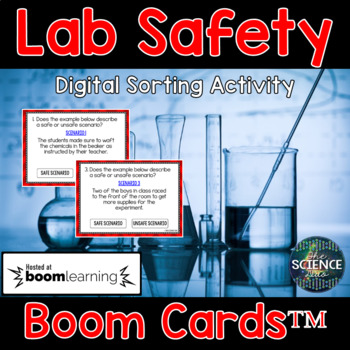 Science Lab Safety - Digital Boom Cards™ Sort