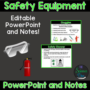 Science Lab Safety Equipment - PowerPoint and Notes