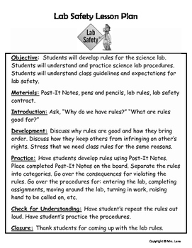 Science Lab Safety Lesson