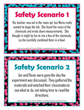 Science Lab Safety Bundled Package in English and Spanish