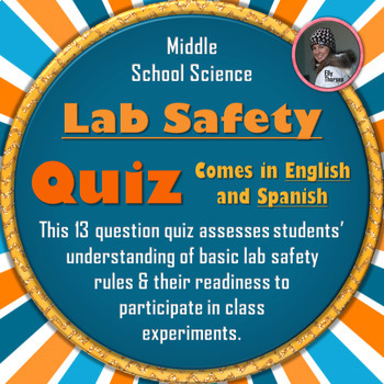 Science Laboratory Safety Quiz in English and Spanish