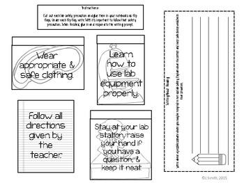 Lab Safety Reading Comprehension Interactive Notebook