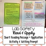 Lab Safety Read and Apply Interactive Notebook