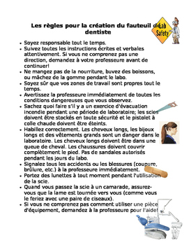 Science Lab Safety Rules (French Immersion/ Extended French)