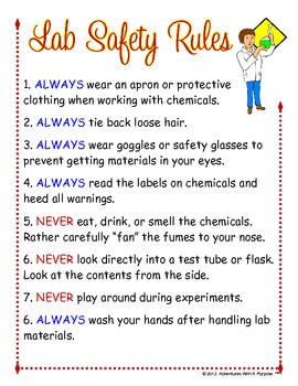 Science Lab Safety Rules Poster