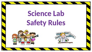 Science Lab Safety Rules Posters