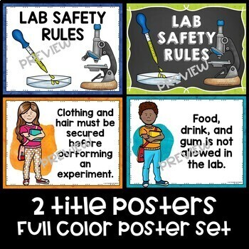 Science Lab Safety Rules Posters for Older Students