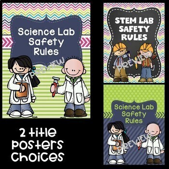 Science Lab Safety Rules Posters in Pastel Bright Colors
