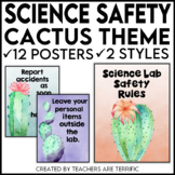 Science Safety Rules Posters in a Cactus Theme