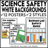 Science Safety Rules Posters with White Backgrounds