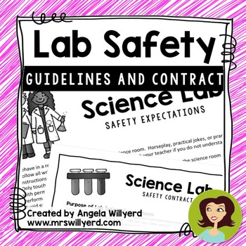 Science Lab Safety Rules and Student / Parent Contract {Ba