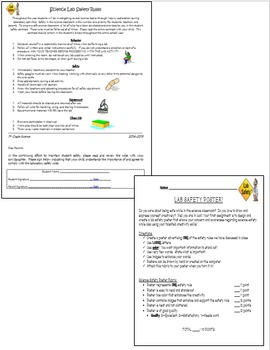 Science Lab Safety Rules/Contract & Safety Poster Assignment