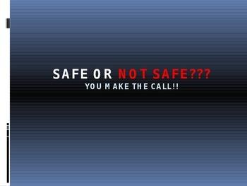 Science Lab Safety - Safe or Not Safe Game