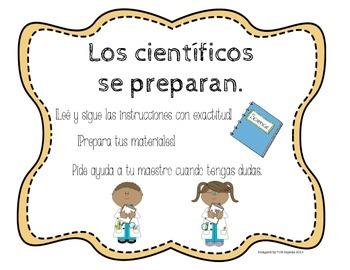 Reglas Para el Laboratorio-Ciencias Naturales-Safety Rules Posters SPANISH