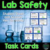 Science Lab Safety Task Cards - Distance Learning Compatible