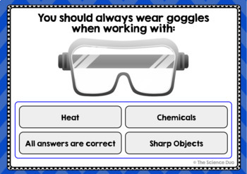 Science Lab Safety Task Cards - Digital Boom Cards