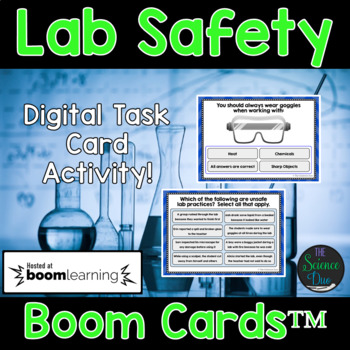 Science Lab Safety Task Cards - Digital Boom Cards™