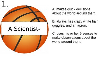 Science Lab Safety & Tools Basketball Review Game!