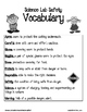 Science Lab Safety Vocabulary Resources