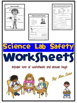 Science Safety Worksheets Teachers Pay Teachers