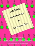 Science Lab Safety agreement and Quiz