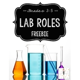 Science Lab Roles FREEBIE! {Black/White/Gold}