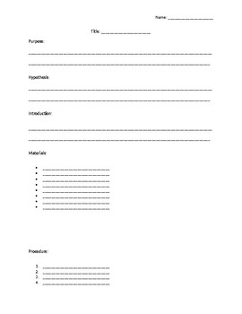 Science Lab Template Page