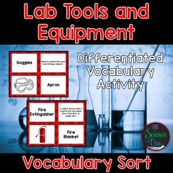 Science Lab Tool and Equipment Vocabulary Sort
