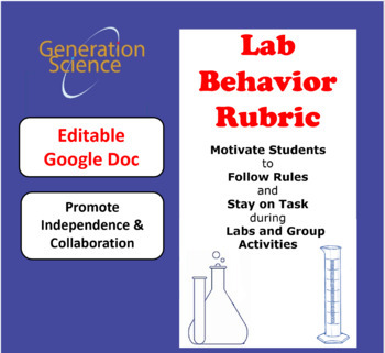 Science Lab or Activity Rubric - Promote Collaboration Skills! (New) Editable!