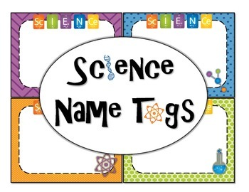 Science Labels Science Name Tags