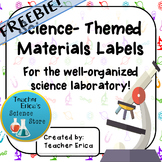 Science-Themed Classroom Materials Labels-FREEBIE!