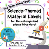 Science-Themed Materials Labels-Name Tag Size