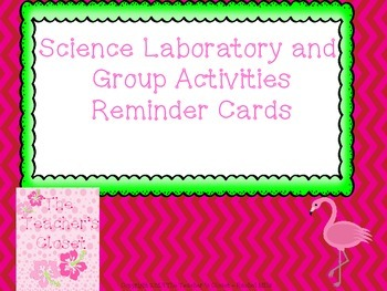 Science Laboratory Behavior Cards