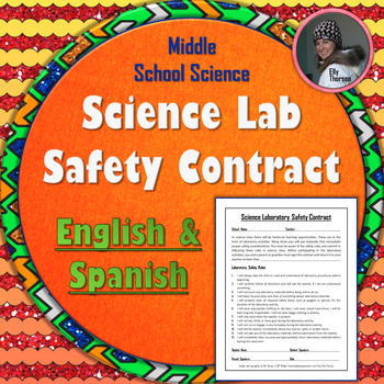 Science Laboratory Safety Contract in English and Spanish