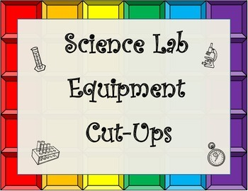 Science Laboratory Tools(Lab Equipment) Cut Up for Journaling with Key