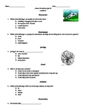 Science: Landforms Vocabulary Quiz