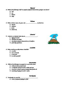 Science: Landforms Vocabulary Quiz