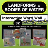 Science * Landforms and Bodies of Water - Interactive Word Wall * NO PREP