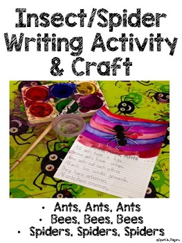 Science, Language, Art- Insect, Spider Writing Activity & Craft