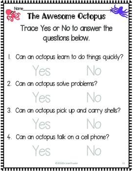 Science, Language, & Literacy: The Octopus (Preschool and Kindergarten)