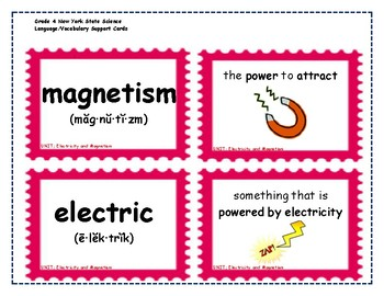 Science Language and Vocabulary Support Cards