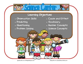 Science Learning Center Sign~ With Objectives