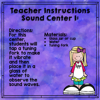 Science Learning Centers Sound Energy